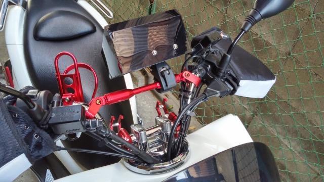 自作ナビバイザー PCX レーダー 取り付け JF28 後期型
