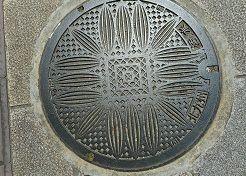 小倉城のマンホール蓋