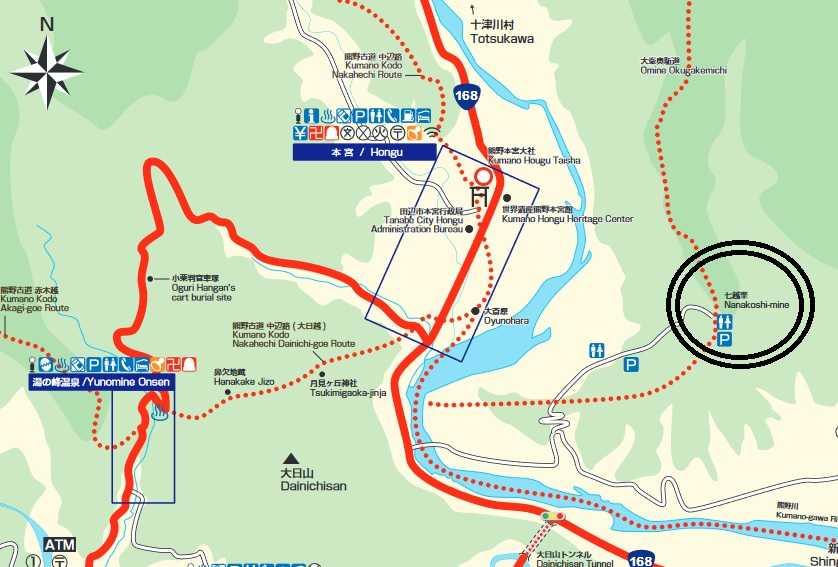 七越峰森林公園 本宮大社 桜 花見 和歌山 マップ