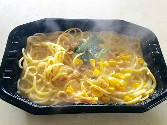 コーンスープスパゲティ♪