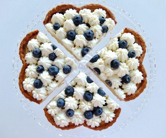 チーズクリームでブルーベリータルト コストコ生ブルーベリー Blueberry tart