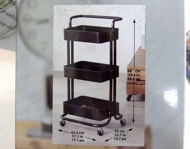 コストコ IKEA イケア 円 ロースコグ キャスター ワゴン キッチン 収納
