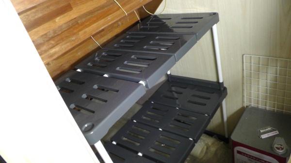 押入れ 整理棚 / スライド式多機能収納棚 2台セット