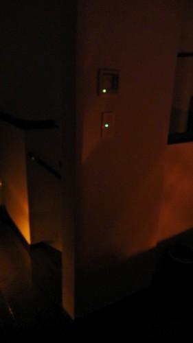 2階洗面所前 常夜灯使用後