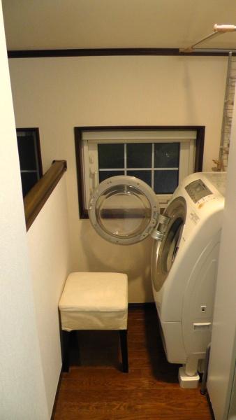 設置後の洗濯コーナー