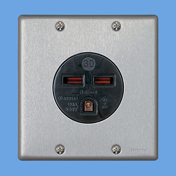 プレートを使った場合の埋込コンセント 埋込型コンセントWF3630B