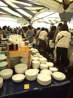 陶器まつり第2会場白山陶器