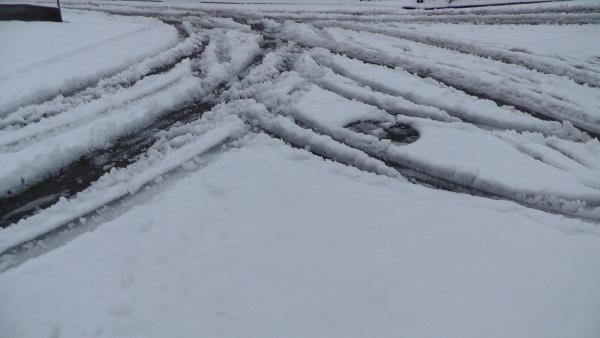 路上の積雪