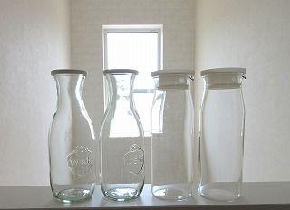 買った 無印*耐熱ガラスピッチャー&WECK ガラス ジャー比べ*