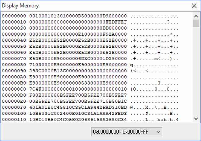 IchigoJam v.0.9.3のフラッシュROM内容