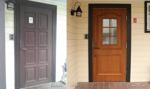 北欧系玄関ドア交換