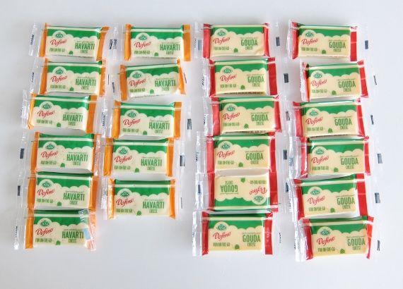 コストコで買ったDofino H&G Portion 1,448円 ドフィーノ ハバティ&ゴーダ スナックチーズ 美味しいチーズです