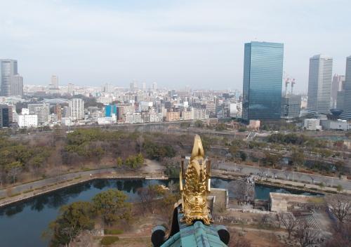 大阪城最上階