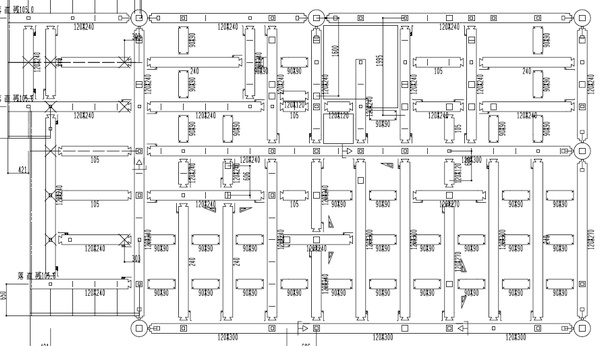 1階小屋、2階床伏図