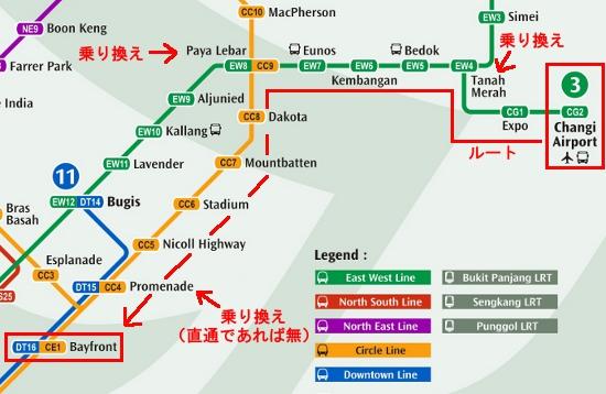 シンガポール電車マップ