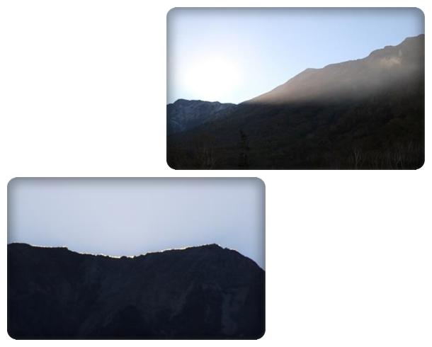 栂池自然園-55 太陽は山の向こうへ 15.10.2 16:31