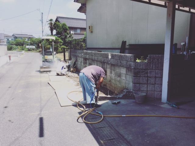 岐阜 駐車場工事 おくだガーデン 安八町