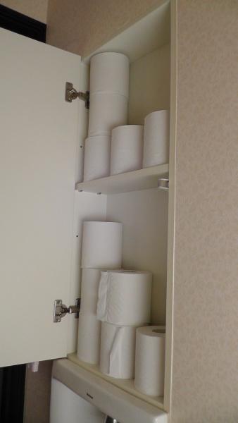 トイレットペーパーの収納