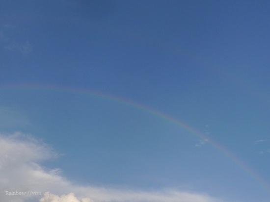 今日の1枚 写真 2012年9月15日 虹 レインボー 画像