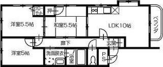 メゾン・ド・カクタス302号室 間取図