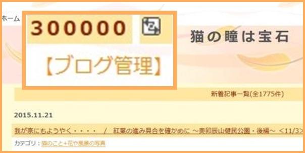 ありがとう30万アクセス 15.11.21 21:31