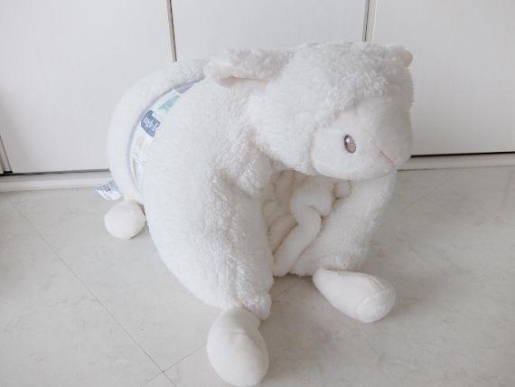 コストコ レポ ブログ ピロー&ブランケットセット 1498円 アニマル クッション
