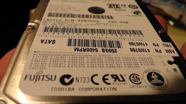 死にかけたハードディスク FUJITSU MJA2250BH G2