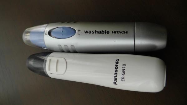 Panasonic エチケットカッター ER-GN10-W(白)とHITACHI BM-03を比較