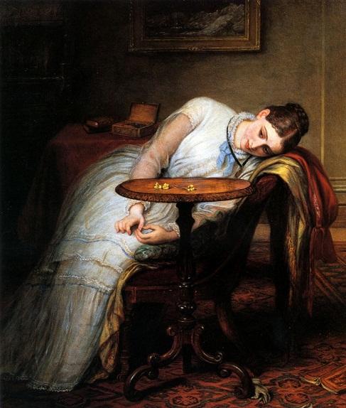 望んだものの遅れ、期待と不安 チャールズ・ウェスト・コープ(1811~1890)イギリス.jpg