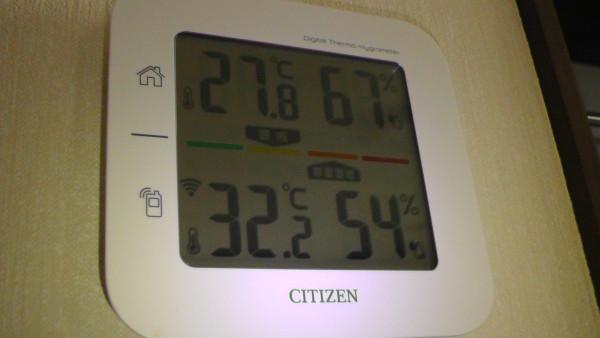 室内外の気温と湿度