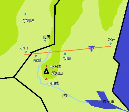 真壁町の位置地図