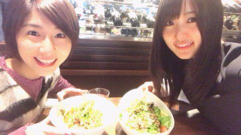 元乃木坂46のメンバーで、今春から日本テレビの女子アナとして活躍することになる\u201d市來玲奈 \u201dが欅坂46のお嬢様キャプテン;菅井友香との2ショット写真を公開した。