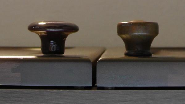 セラミックつまみ 茶金環 01781 #101BR/G