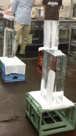 最初はこんな氷柱