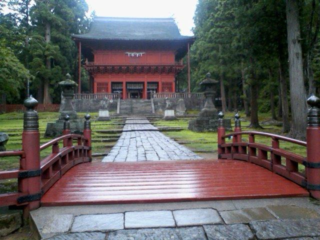 岩木山神社 橋の前から