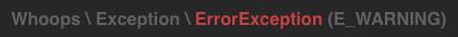 E_WARNING