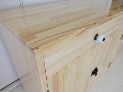 DIY 女子 キッチン 収納 キャビネット 日曜大工 カントリー パイン