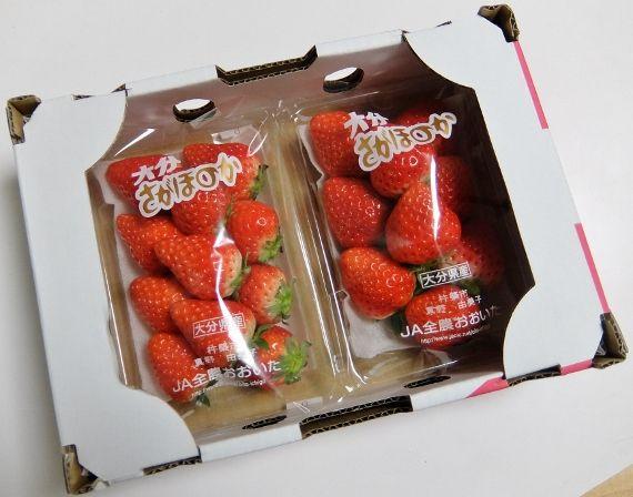 コストコ レポ ブログ いちご 苺 平箱 さがほのか