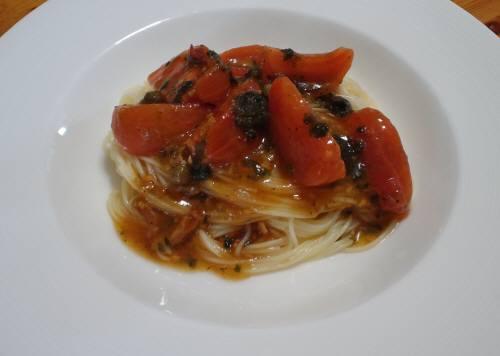 倉橋産フルーツトマトの冷製カッペリーニ