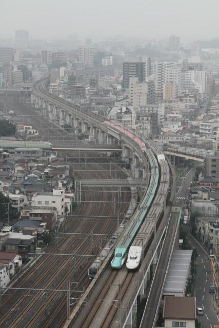 新幹線 同士の並び 他