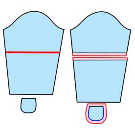キョウリュウジャーの空蝉丸の衣装のそでの作り方