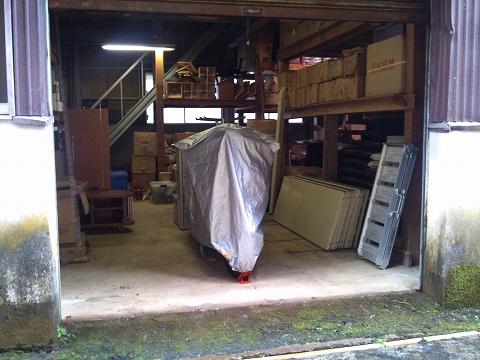 2012.03.17 車庫の整理整頓 001(倉庫)