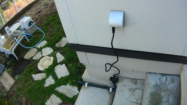 井戸ポンプへの電源ケーブル配線