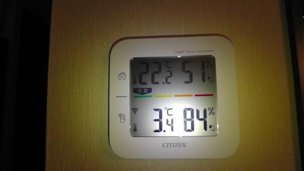 室内外の温度
