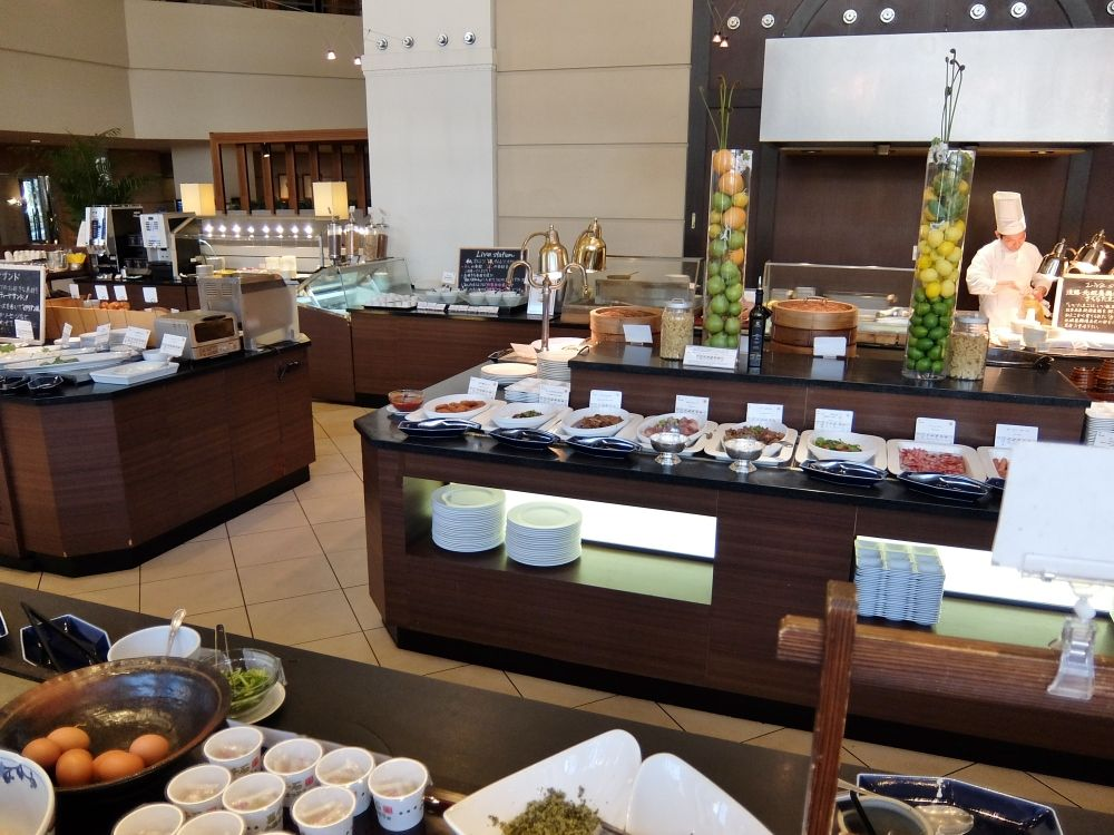神戸ベイシェラトンホテル&タワーズ クラブラウンジ レポ ブログ 朝食 バイキング