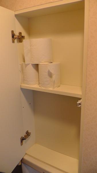 トイレットペーパーの予備残量3巻