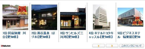 名古屋 愛知 東海 ホテル 旅館 ランク