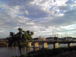 綱島鶴見川2012年8月