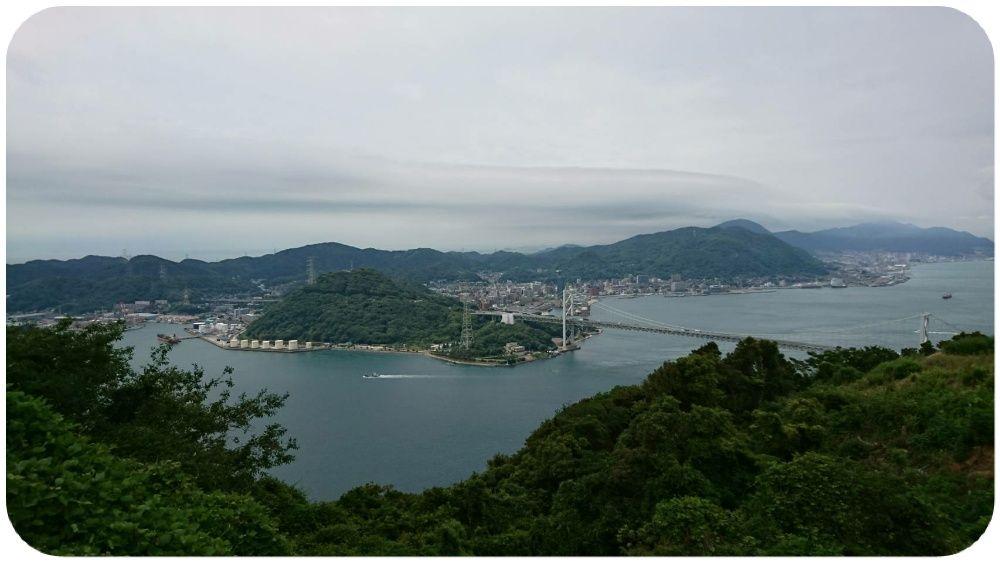 火の山公園から関門海峡を望む