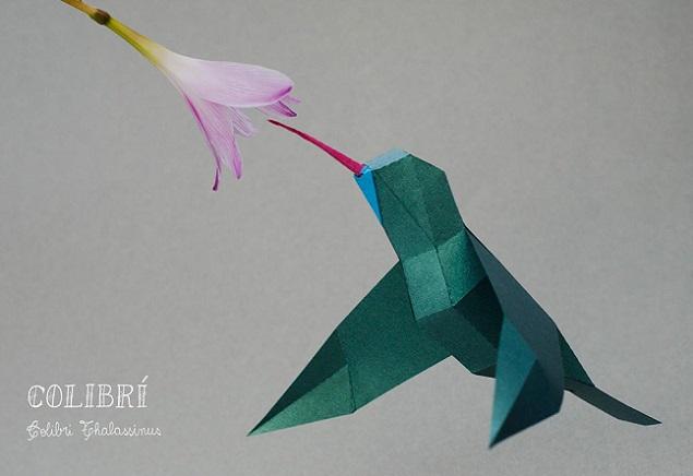 ハチドリ 折り紙